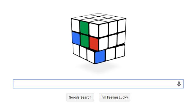 Rubik's Cube game on Google
