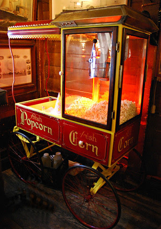 Old-Fashioned Popcorn Machine inThe Griswold Inn Tap Room