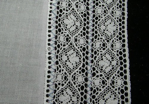 lace to entredeux iron and front