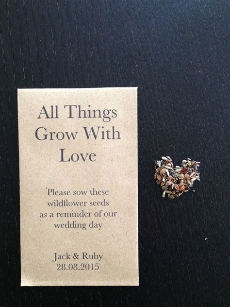 Details about 10 x Wildflower Seed Wedding Favours   ALL
