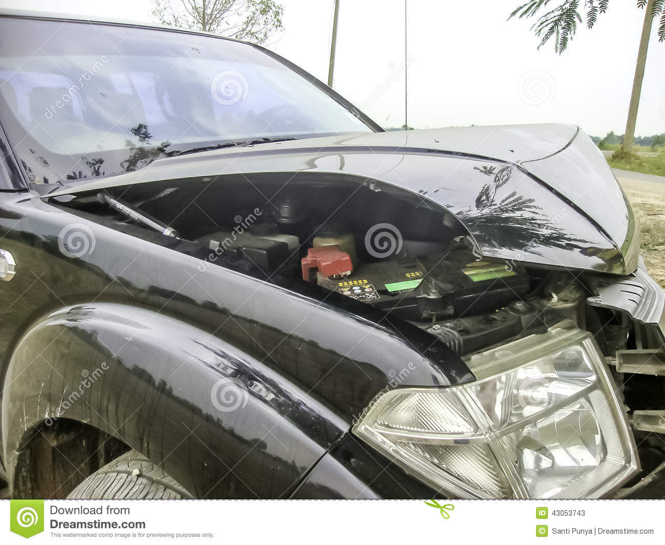 Car Accident Stock Photo - Image: 43053743
