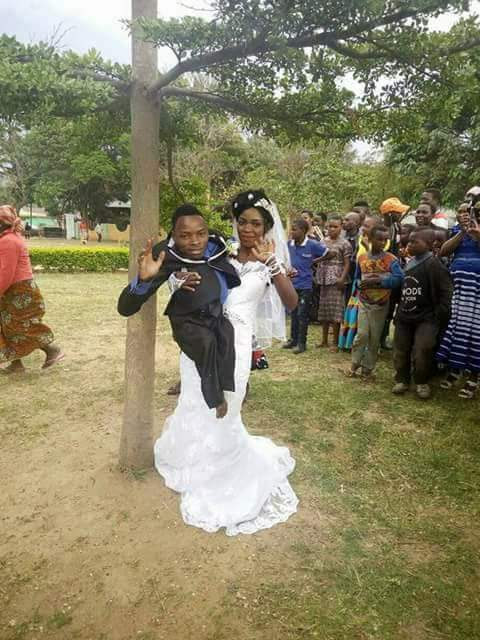 Small-Sized Physically Challenged Man Marries Pretty Lady. White Wedding Pics Trend