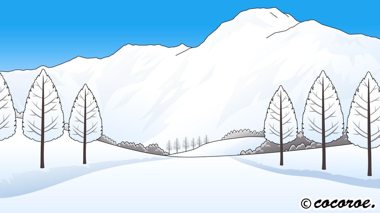 雪山のイラスト冬のイラストスキー場 イラストレーター モーション