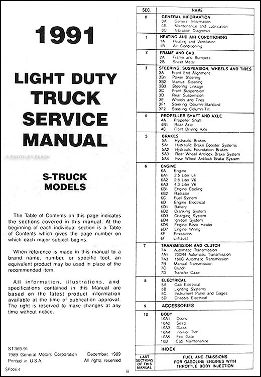32 1991 Chevy S10 Wiring Diagram - Wiring Diagram List