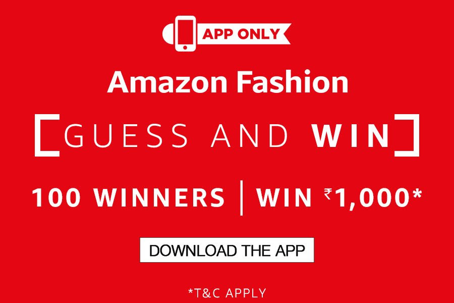 Amazon Fashion: Guess & Win