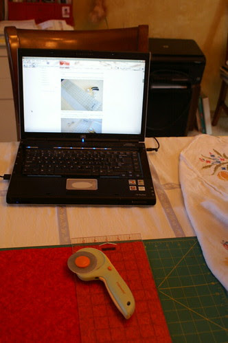 """Using Oh, Frannson tutorial on cutting the 5"""" charms by LuckyLou07"""