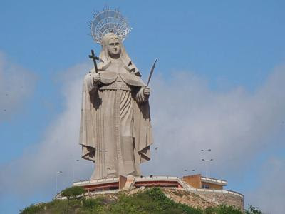 The statue of Saint Rita of Cascia. (Image: Demis Roussos/Rio Grande do Norte administration)