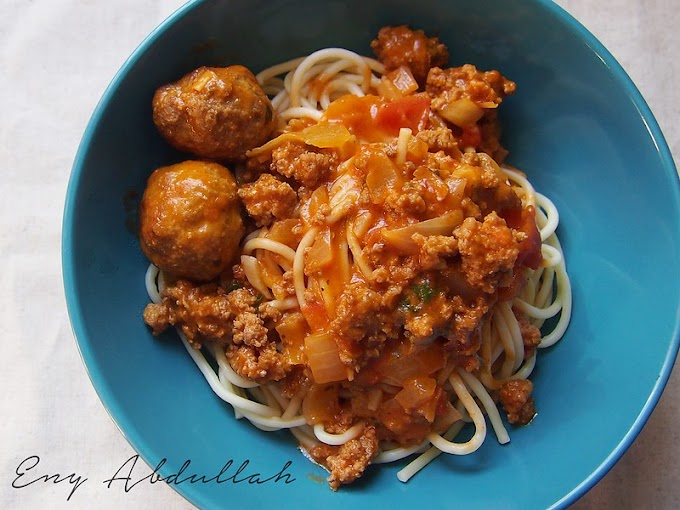 Spaghetti Bolognaise-Carbonara Meatballs!!