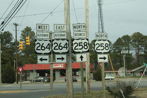 US 258 meets US 264A