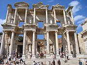 Celsus Library was built in 135 A.D. and could house around 12,000 scrolls.