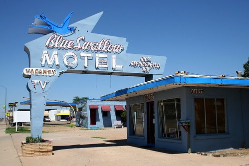 the blue swallow motel neon sign