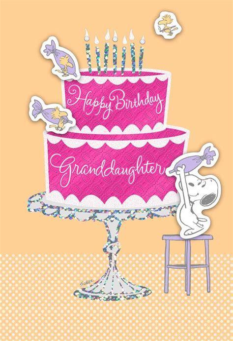 Enjoy the Day, Granddaughter Peanuts® Birthday Card