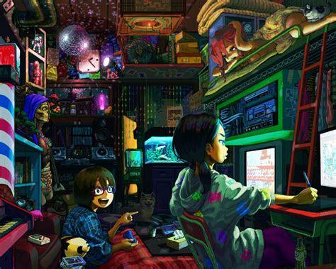 anime gamer girl wallpaper hd  baltana