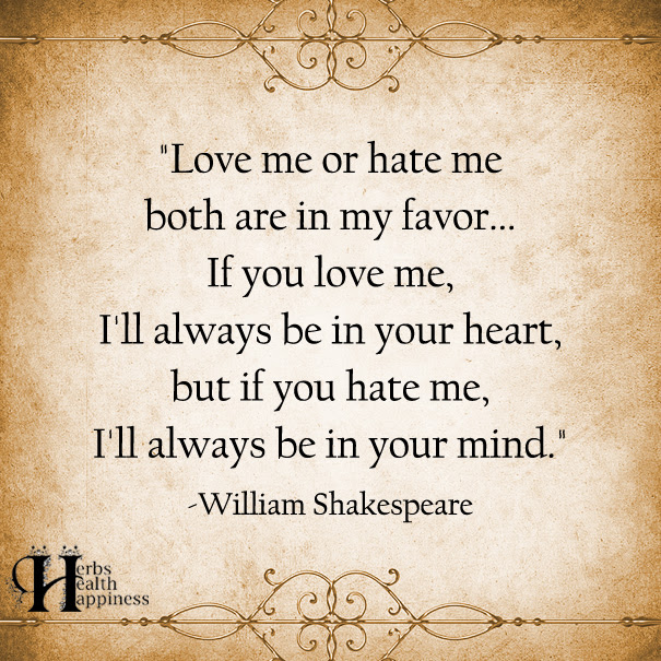 Love Me Or Hate Me Both Are In My Favor ø Eminently Quotable
