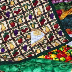 Food Fight quilt label