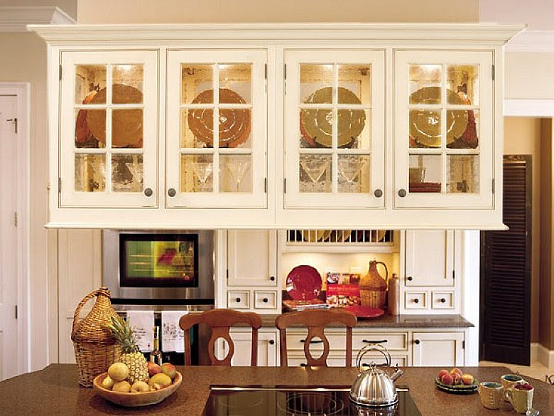 Hanging Kitchen Cabinets Glass Door Design Glass Kitchen ...