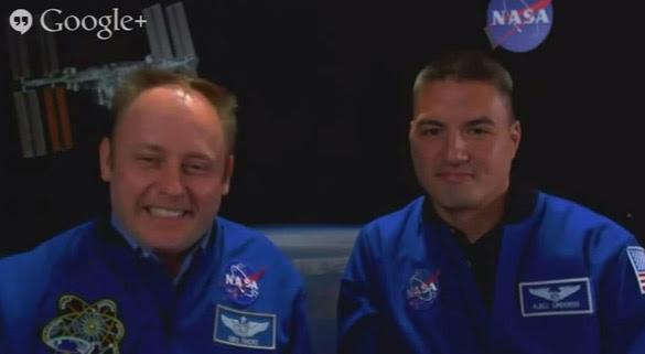 Astronauts Michael Fincke and Kjell Lindgren