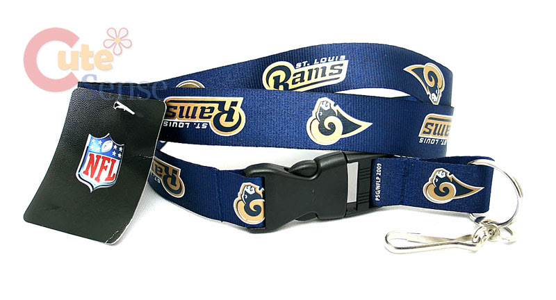 NFL St. Louis Rams Lanyard Key Chain /ID Ticket Holder  eBay