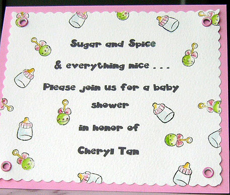 Click Here To View A Bigger Image Of This Sweet Baby Invitation