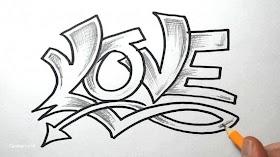 Huruf H Graffiti Keren
