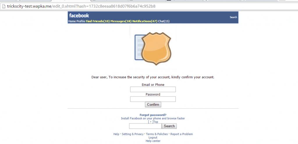 facebook-security-phishing-website-demo