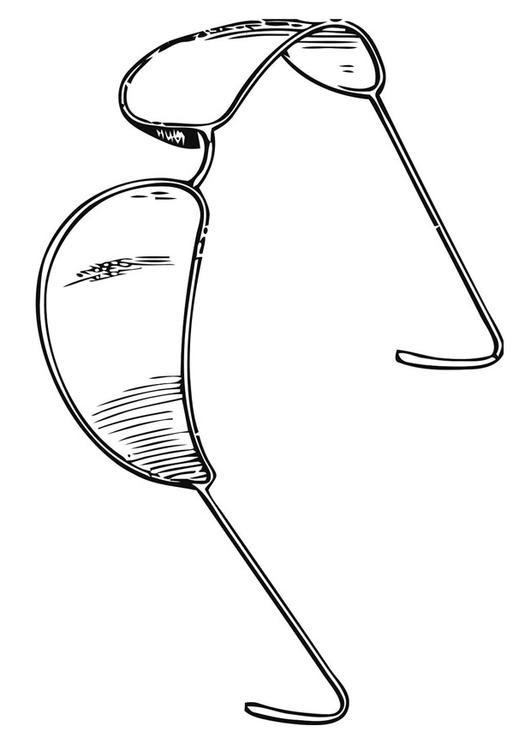 Disegno Da Colorare Occhiali Da Sole Cat 19416