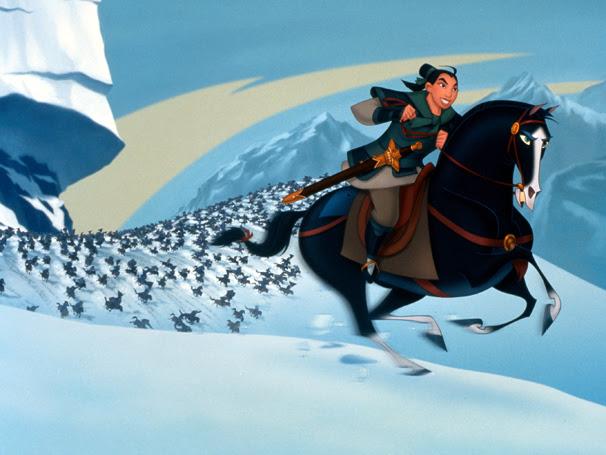 A guerreira Mulan luta com exército chinês disfarçada de homem (Foto: Divulgação / Disney)