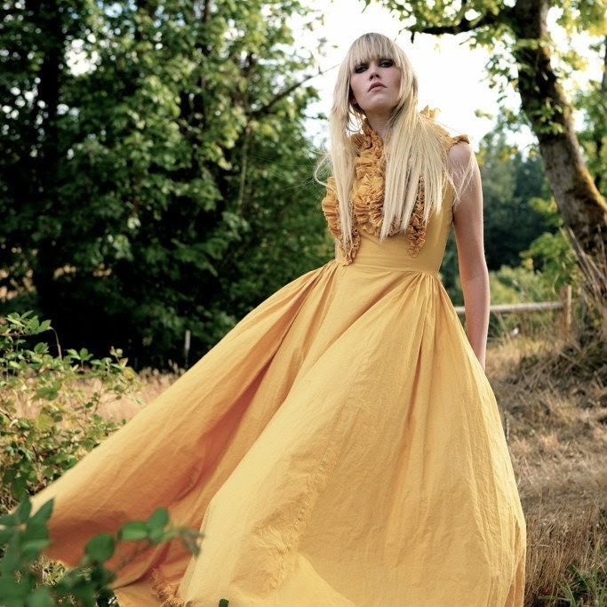 GO ASK ALICE cotton gown/made to order