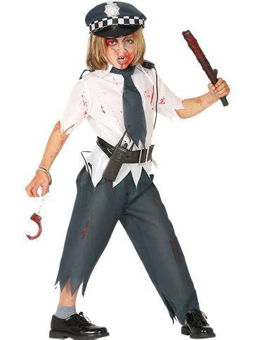 Zombie Police Boy   Child Costume   Party Delights