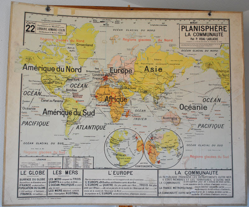 Carte Monde Ecole Imvt