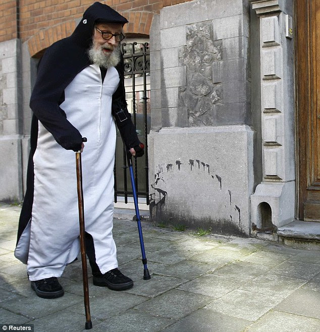 Waddling: Alfred got the nickname Mr Penguin when he was injured in a car crash in 1968, which left him walking with a limp