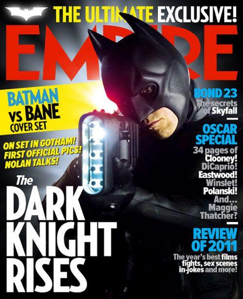 The Batman cover of Empire's THE DARK KNIGHT RISES magazine issue.