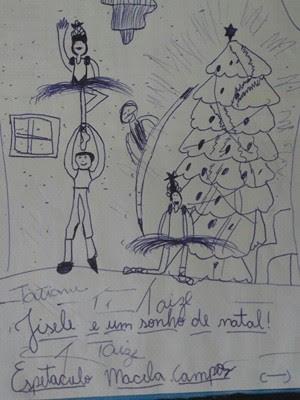 Ainda criança, Gabriel já fazia desenhos que falavam de ballet (Foto: Gabriel Lopes/ arquivo pessoal)