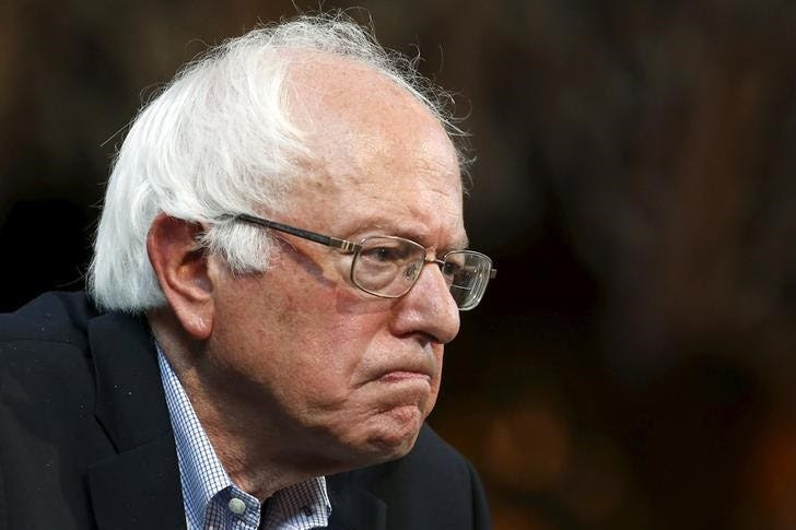 Sanders angry