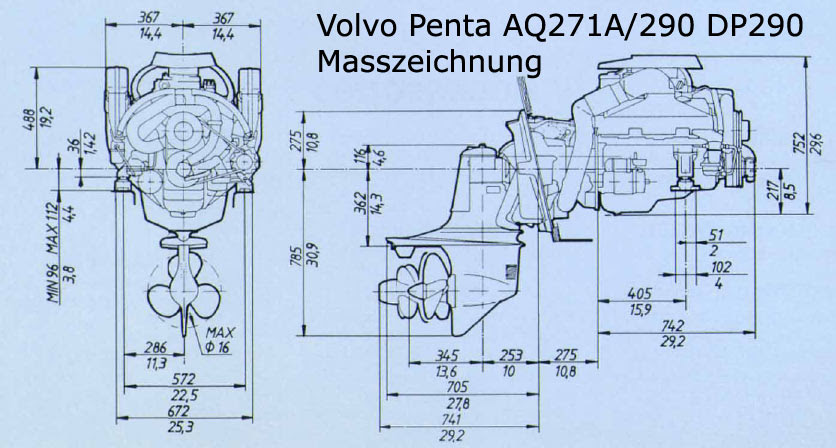 Volvo Penta Duo Prop Outdrive Diagram
