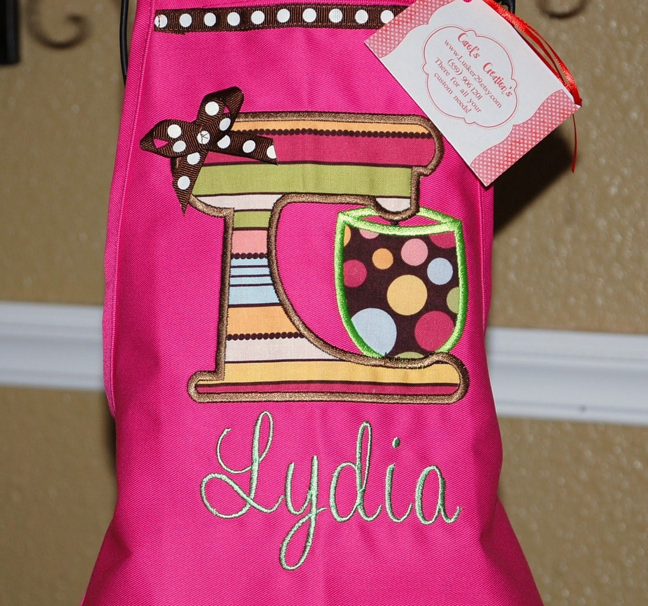 Sweet girls cooking apron  can be personalized with name can add matching chefs hat