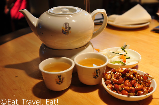 Koi Palace- Daly City, CA: Tea, Silverfish and Peanuts, Pickled Vegetables
