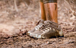 Photo: Muddy legs and shoes