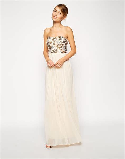 :ASOS Flutter Sleeve Beaded Maxi Dress   Dress Me   Sequin