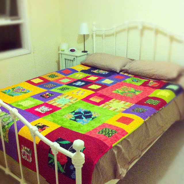 Spare bed with spare quilt