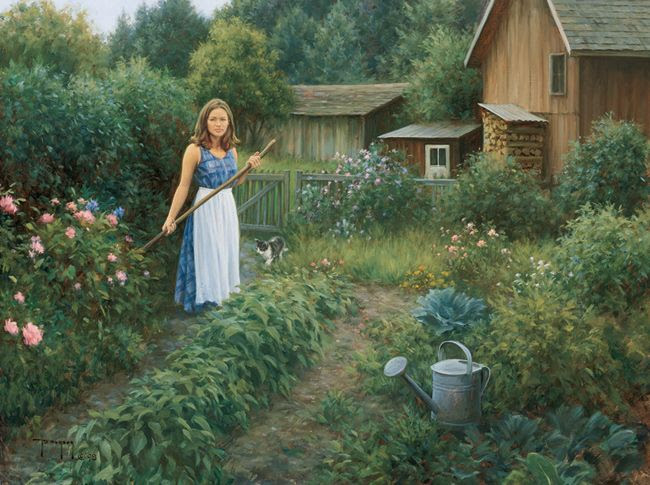 *Working the garden...Robert Duncan