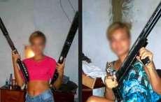 PM encontra armas ostentadas por loira em rede social