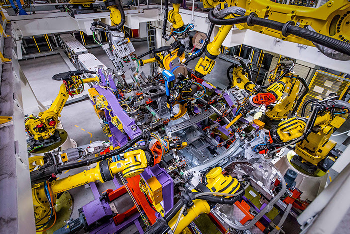 A car is assembled at the GM Shanghai Cadillac plant in Shanghai on Jan. 29, 2016. Photo: IC