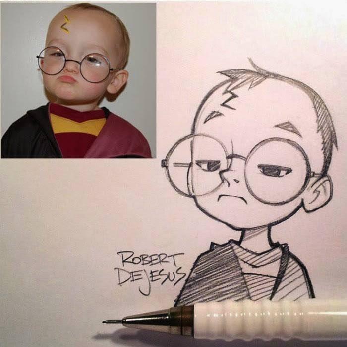 Harry Potter Gato Nina Lentes Nino Blanco Y Negro Feliz Dibujo