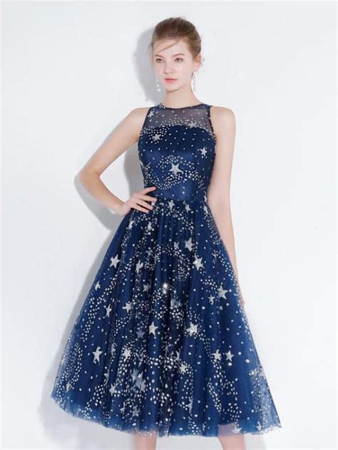 Chic Homecoming Dresses Stars A Line Lace Sparkly Short