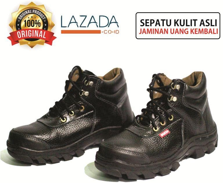 SALE JUAL safety shoes pria safety boots safety jogger safety box safety  hitam kulit sapi asli sepatu boot boots pria ankle boot kuat segala medan  sudah ... 89ec78ac81