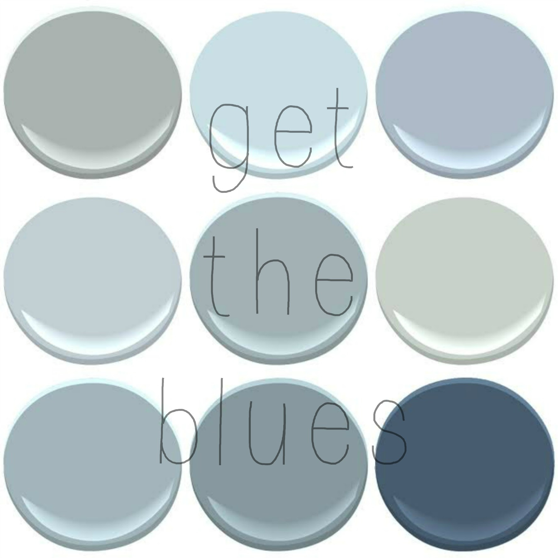YOUR FAVORITE BENJAMIN MOORE BLUES