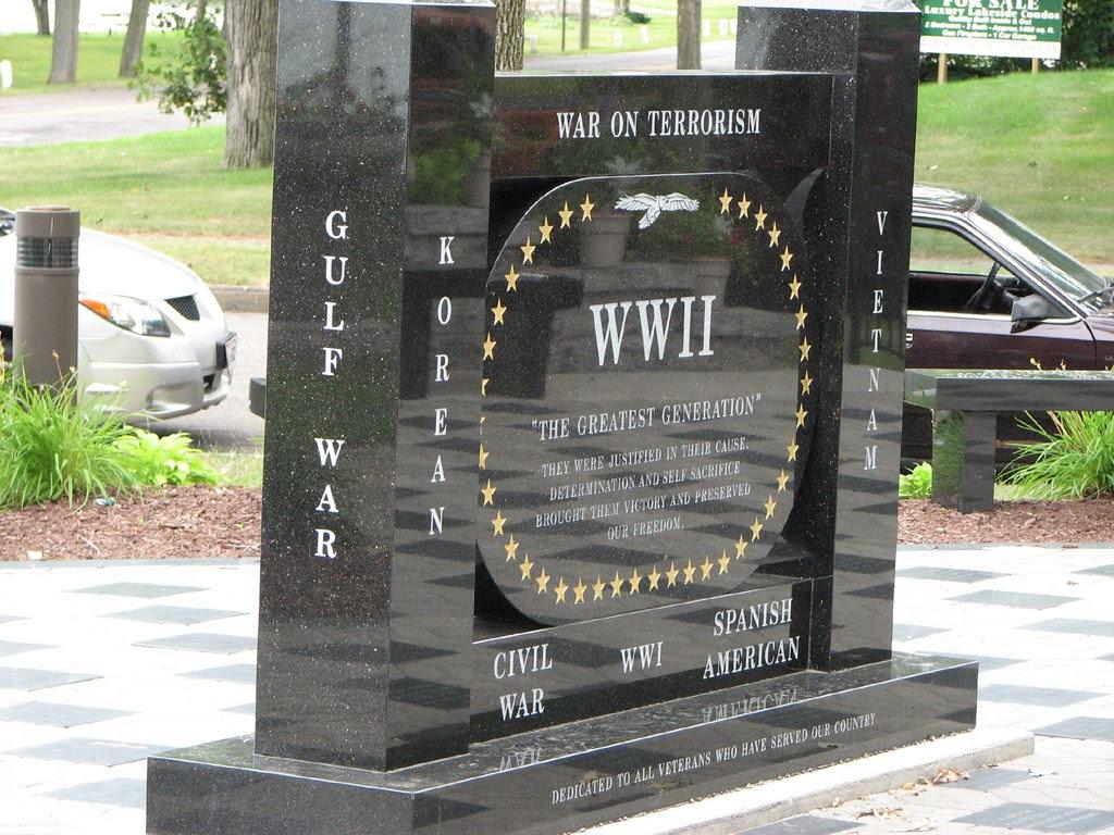 War memorial, Rice Lake, Wisconsin