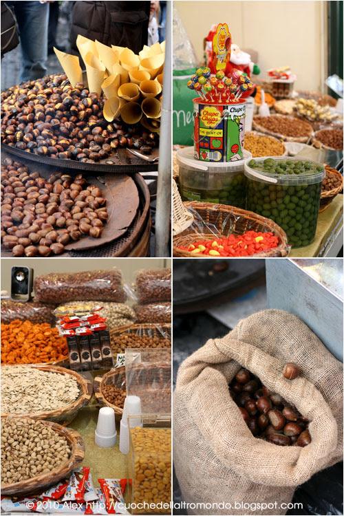 Caldarroste olive frutta secca