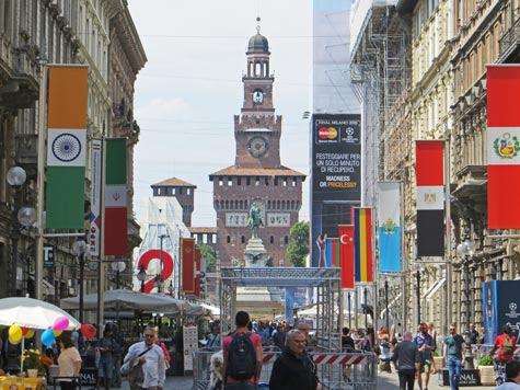 Via Dante in Milan Italy (Milano)